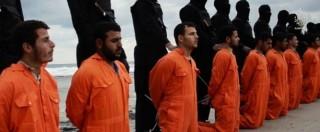 """Libia, video Isis: decapitazione di decine di cristiani copti. """"Siamo a sud di Roma"""""""