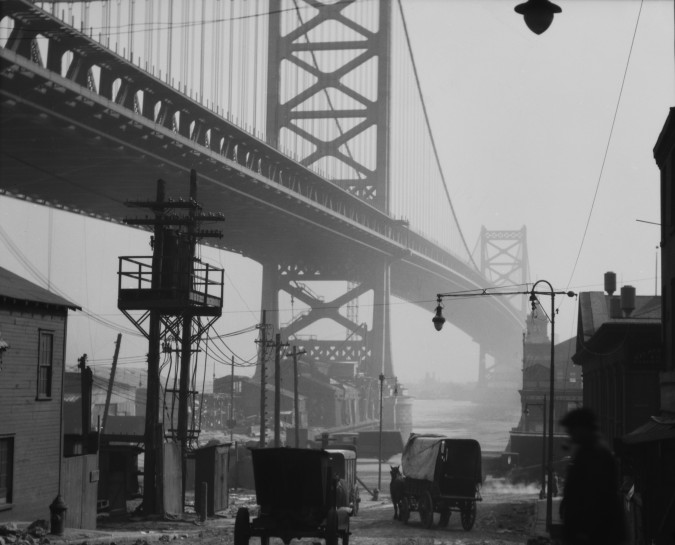 Delaware Bridge, Philadelphia, Pennsylvania, 1926 , USA  Vintage gelatin silver print  © E.O. Hoppé Estate Collection / Curatorial Assistance