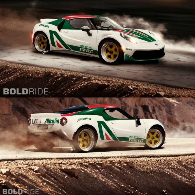 Lancia Stratos su base Alfa Romeo 4C, quando la passione incontra la fantasia