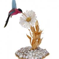 Gianmaria Buccellati, 2009. Creazione ornamentale raffigurante un Colibrì in tormalina multicolore