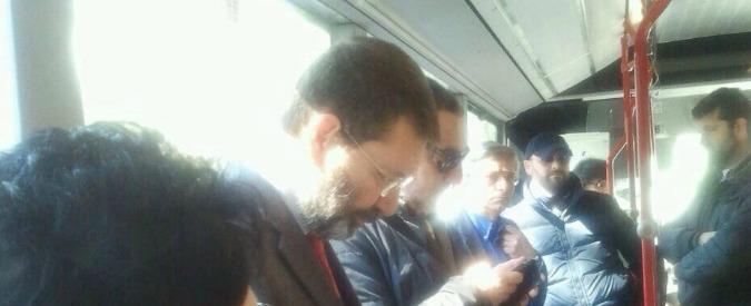 Roma, Marino inaugura nuova viabilità al Tiburtino, poi torna al Campidoglio in bus