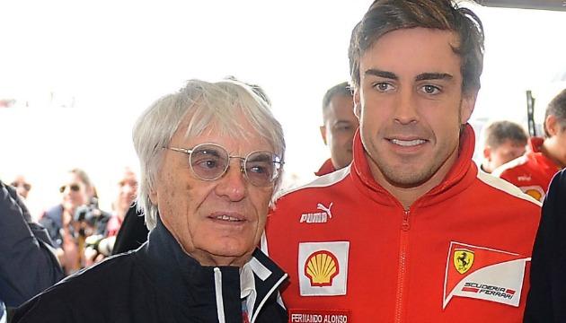 Ecclestone e Alonso nel 2012