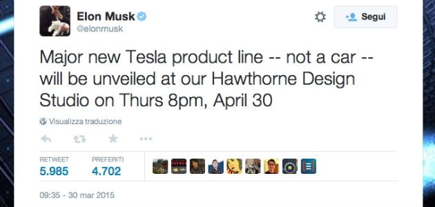 Elon Musk annuncia novità