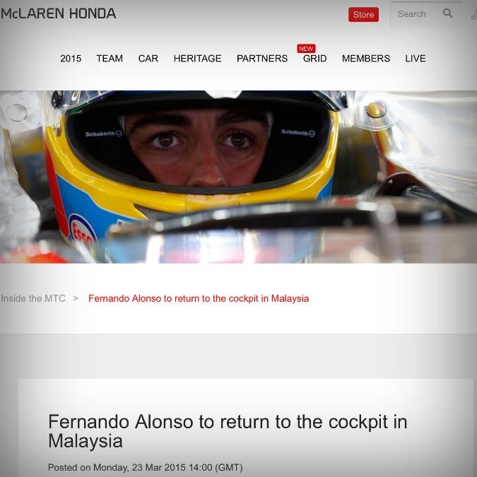 """Fernando Alonso torna in pista. Prima dell'incidente """"lo sterzo era duro"""""""