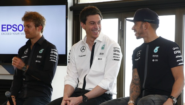Mercedes Lewis Hamilton, Nico Rosberg Toto Wolff