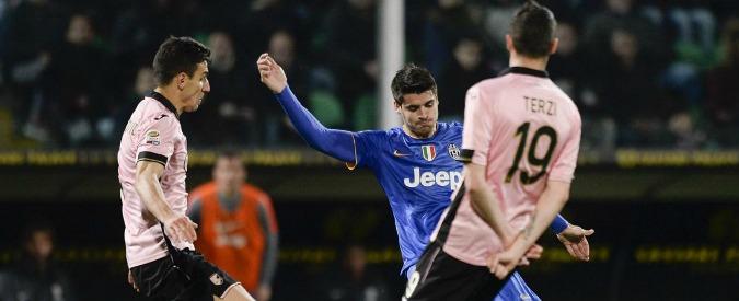 Palermo-Juventus 0-1, Morata gol: la Signora è a +14. Cagliari, Zeman beffato