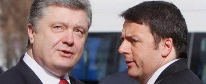 """Ucraina, Renzi: """"Vogliamo rispetto della sovranità. Siamo a fianco di Poroshenko"""""""
