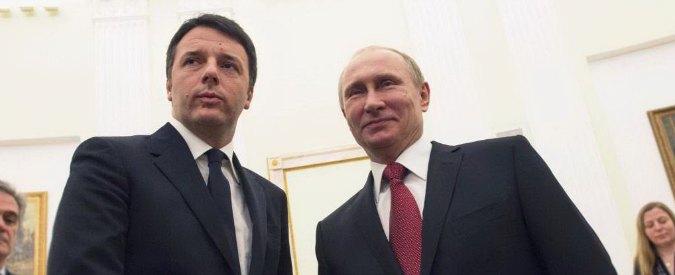 Renzi in Russia: 'Insieme contro terrorismo'. Putin: 'Noi con Onu in Libia'