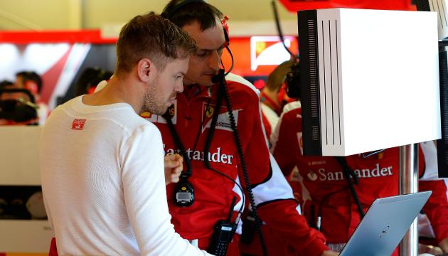 Vettel Ferrari prove GP d'Australia