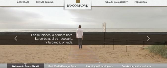 Spagna, Banco Madrid chiede fallimento. Commissariata capogruppo di Andorra
