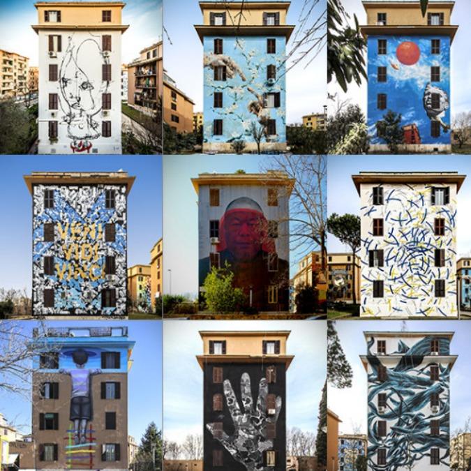 street art tor marancia si colora dell 39 opera di 20 artisti internazionali big city life. Black Bedroom Furniture Sets. Home Design Ideas
