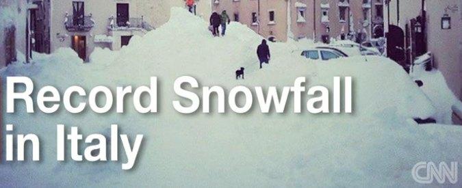 """Capracotta, """"neve da record"""". Paesino del Molise fa il giro del mondo sui media"""