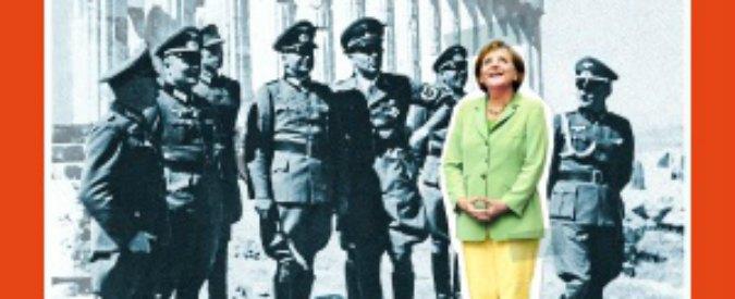 """Merkel tra i gerarchi nazisti su Der Spiegel. """"Parte dell'Europa ci vede così"""""""