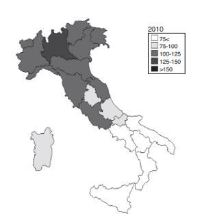 divario Nord Sud 2010