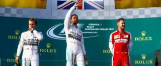 F1, Hamilton e Rosberg dominano in Australia. Speranza Ferrari: Vettel è terzo
