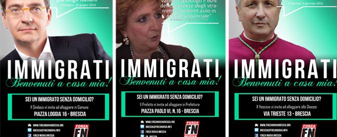 Immigrazione, a Brescia manifesti Forza Nuova contro sindaco, prefetto e vescovo