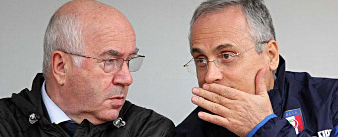 """Lotito indagato per """"tentata estorsione"""". Perquisiti Carlo Tavecchio e Mario Macalli"""