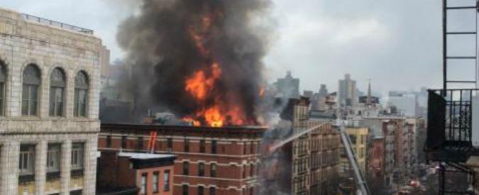 Manhattan, esplosione e crollo di una palazzina: diciannove feriti