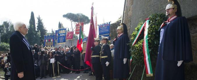 Fosse Ardeatine, Mattarella torna a onorare 335 morti. Renzi: 'Non dimentico'