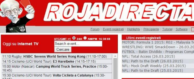 Rojadirecta, tribunale di Milano dà ragione a Mediaset: su Fastweb oscurato il sito pirata per le partite di calcio