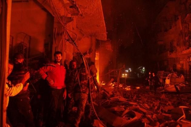 Siria, bombardamenti ad Aleppo