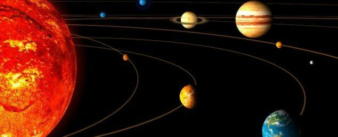 Cinque pianeti allineati, Mercurio Venere Saturno Marte e Giove in fila nel cielo