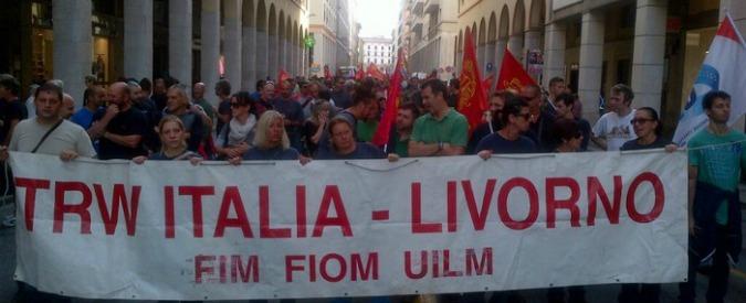 Livorno, Trw chiude: gli operai danno ultimi soldi di cassa assistenziale a onlus