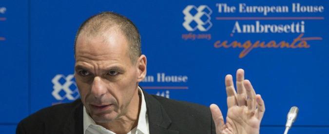 """Grecia, Varoufakis contro la Bce: """"Il suo statuto l'ha scritto la Bundesbank"""""""