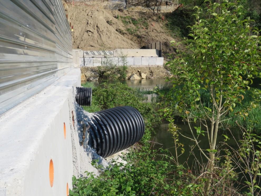 Anche qui ci sarà un ponte sul fiume Meschio