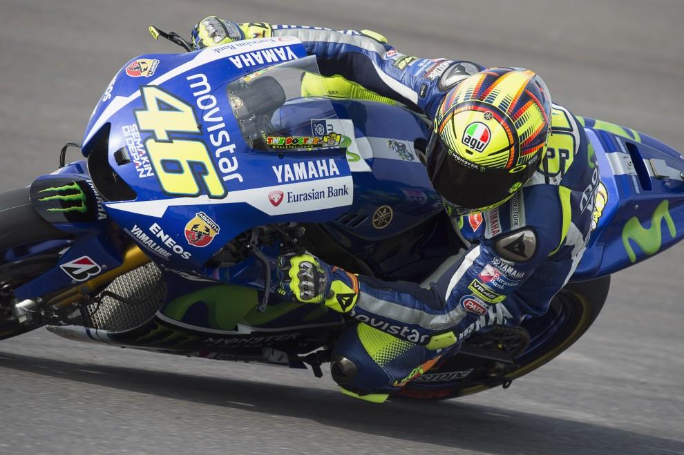 Valentino Rossi in pista