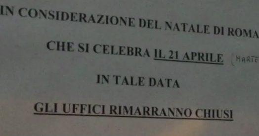 Ufficio Notifiche A Roma : Natale di roma uffici chiusi e festività pagata per i mila