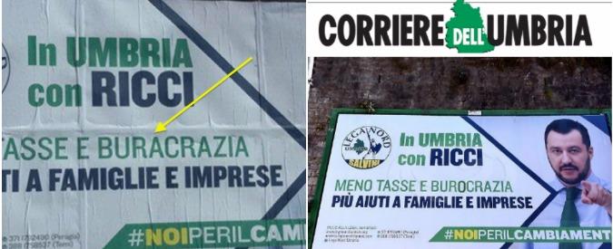 Elezioni regionali 2015, Lega Nord: gaffe sul manifesto di Salvini in Umbria