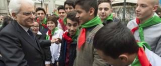 """25 Aprile, Mattarella: """"Democrazia vuol dire lotta severa a corruzione e mafie"""""""