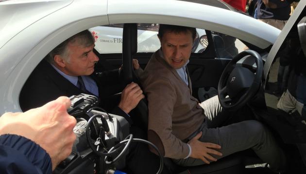Nardella e Chretien su Renault Twizy