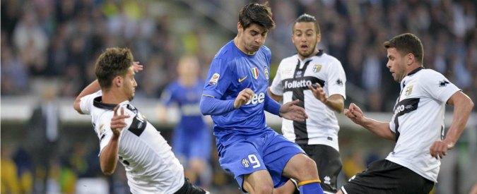 Parma-Juventus 1-0, Mauri regala l'impresa: la festa della società già fallita