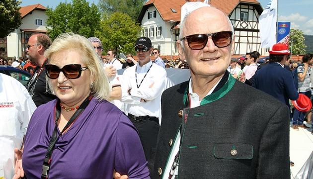 Piech con la moglie Ursula