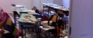 Ostuni, crolla il soffitto di una scuola: due bimbi e una maestra in ospedale