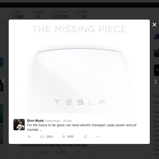 """Tesla annuncia """"il pezzo mancante"""": una batteria elettrica per la casa?"""
