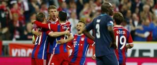 Bayern-Porto 6-1: i bavaresi forza 'tennistica'. E Muller festeggia in curva