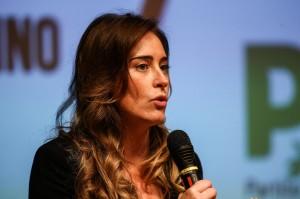 """Maria Elena Boschi, interviene all'iniziativa del Partito Democratico di Torino """"Cambiamo l'Italia""""."""