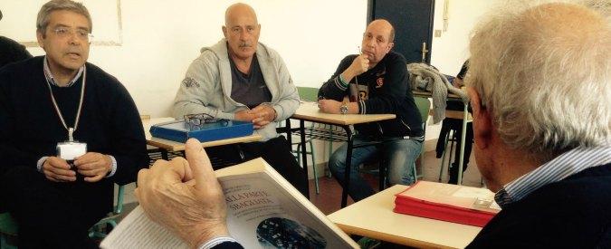 """Rebibbia, un pomeriggio nella redazione del gr con il """"collega"""" Totò Cuffaro"""