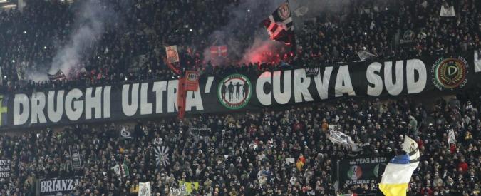Juventus, due giornate alla curva Sud. Bomba carta lanciata dai bianconeri