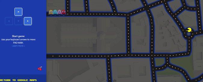Pesce d'aprile 2015, Pac-Man su Google Maps: si gioca per tutto il giorno