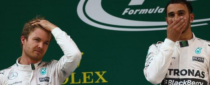 Formula 1, fratelli coltelli in Mercedes: guerra continua Hamilton-Rosberg