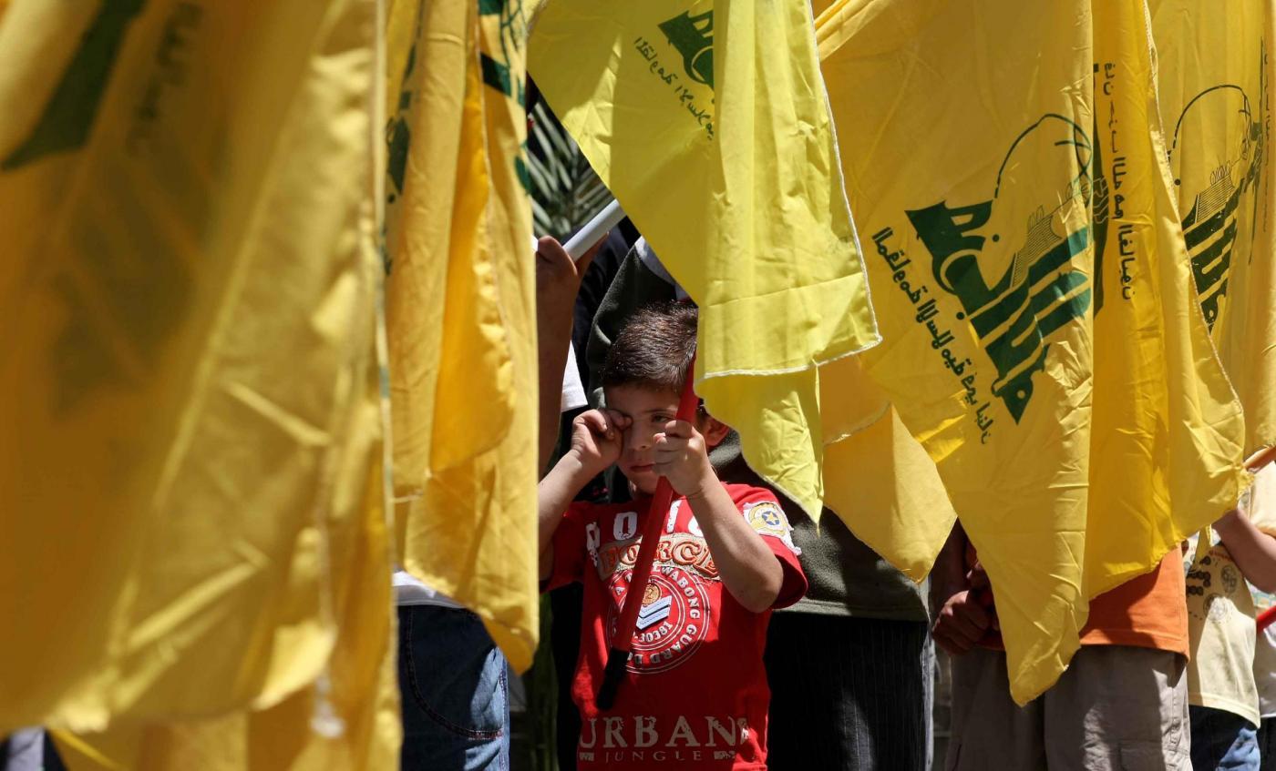 Funerale di un membro di Hezbollah