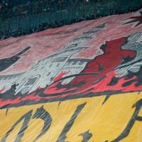 Un particolare della curva del Milan