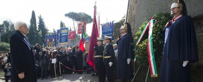"""25 aprile, Mattarella: """"No a pericolose equiparazioni tra due parti in conflitto"""""""
