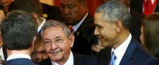 """Usa-Cuba, Obama: """"Guerra fredda è finita"""". Castro: """"Non ha colpe su passato"""""""