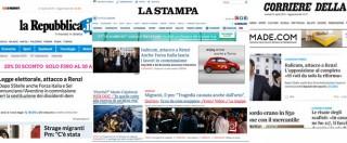 """Italicum, le opposizioni si oppongono? Per i siti di Corriere, Repubblica e Stampa """"Renzi è sotto attacco"""""""