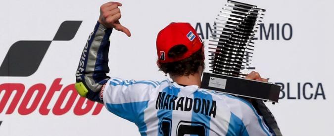 Valentino Rossi, Maradona ringrazia su Facebook per dedica sul podio